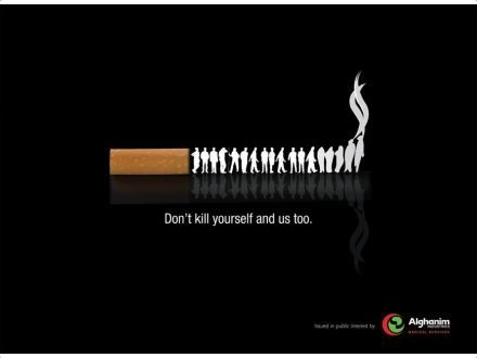 This is a simple PSA but it gets the message across that smoking kills