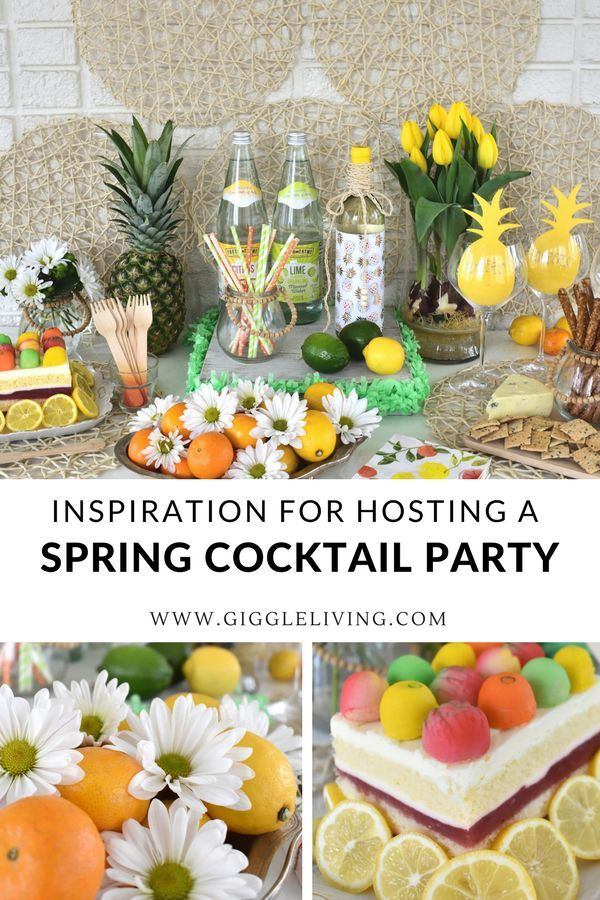 Cocktail Party Ideas And Inspiration For Springtime Celebrations Cocktails For Parties Cocktail Party Decor Spring Party Decorations