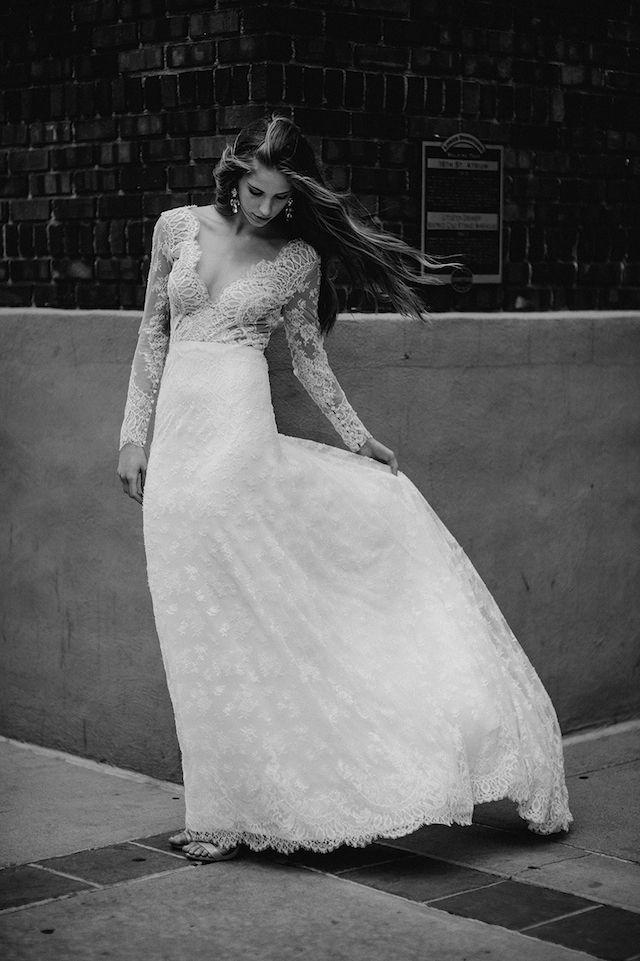6 gata chic brudklänningar