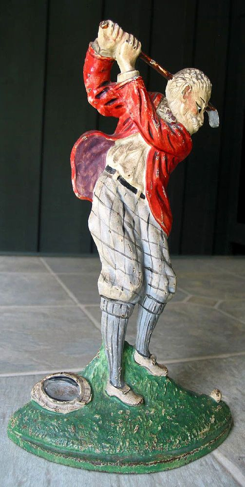 Rare Antique Cast Iron Doorstop Golfer by Hubley Circa 1920 Nice Original  Paint - 357 Best Doorstops Images On Pinterest Doorstop, Antique Doors And