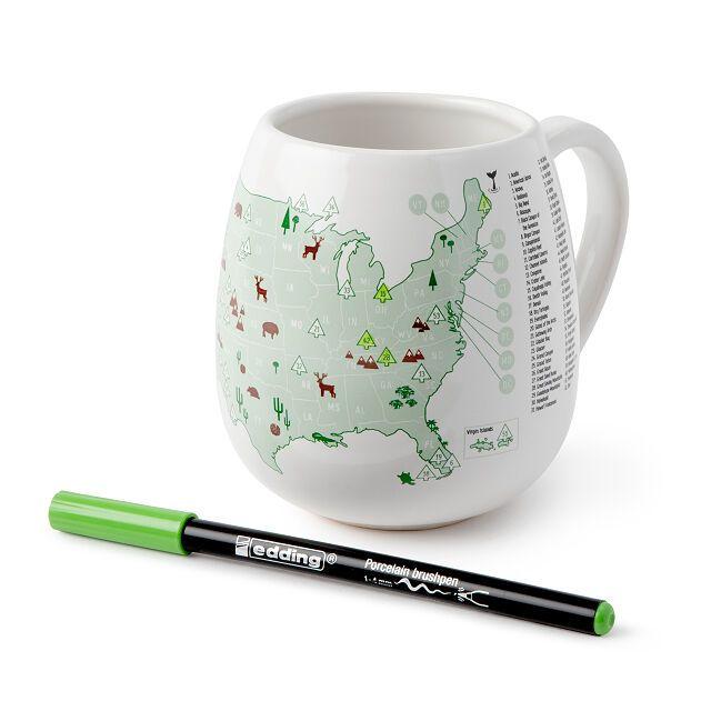 National Parks Color Map Mug Coffee Mug Tea Mug Uncommon Goods In 2020 Mugs Holiday Crafts Gifts Tea Mugs
