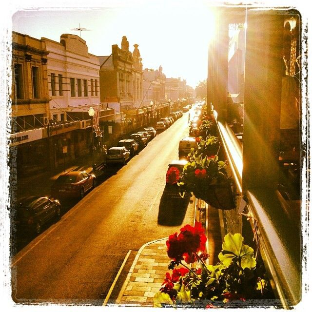High Street Freo, from the National Hotel balcony!