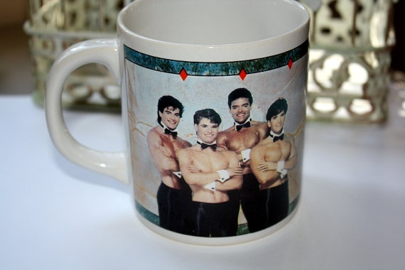 Vintage Coffee Cup CHIPPENDALE  DANCERS  Kitchsy Cool by sadiesez, $15.00