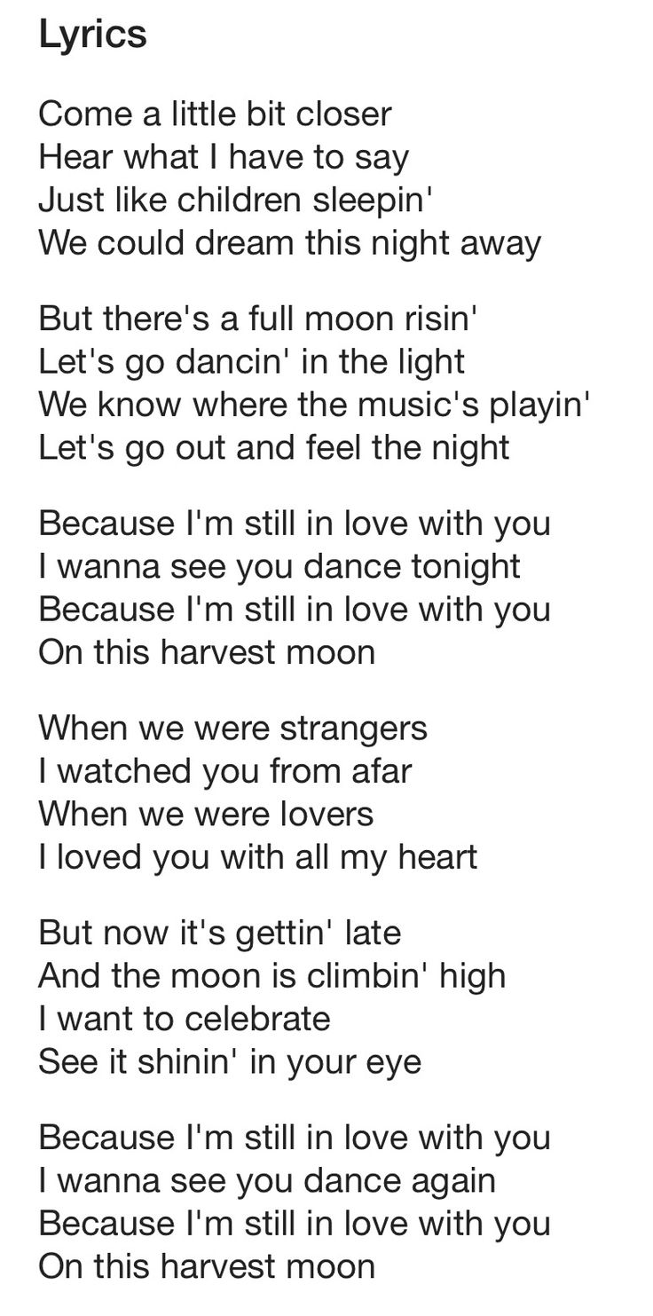 "Neil Young..... ""Harvest Moon"". Lyrics. Yes........I Love"