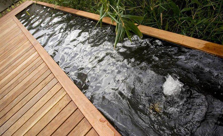 62 best water features images on pinterest for Garden decking features