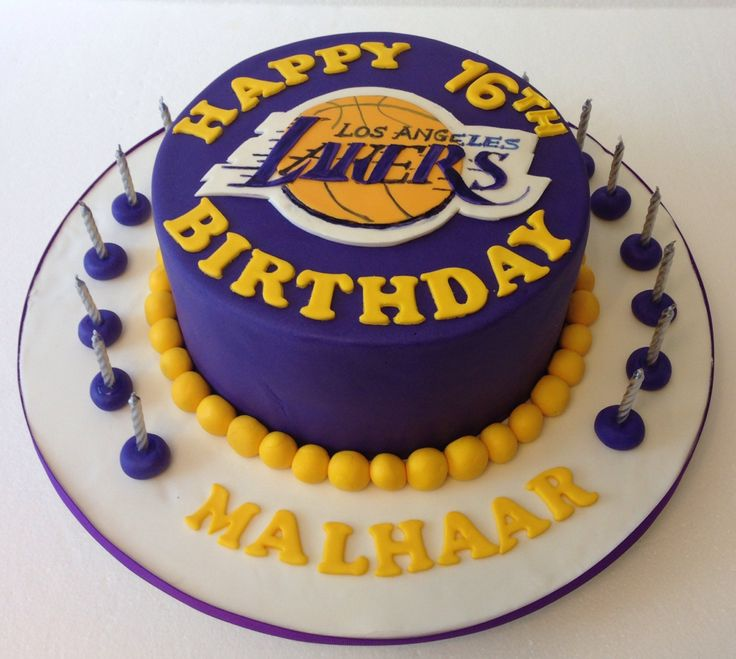 Lakers Cake Lakers Cakes Pinterest Cakes