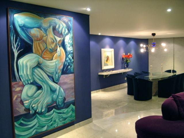 Narciso, obra na sala da familia Marques, Curitiba PR.