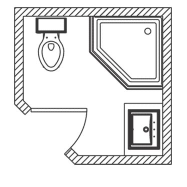 tiny bathroom floor plan