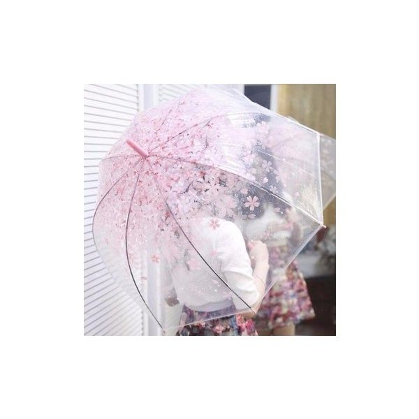 Automatic Transparent Clear Colourful Umbrella Blossom Outdoor... (175 MXN) ❤ liked on Polyvore featuring accessories, umbrellas, clear umbrellas, flower umbrella, transparent umbrella, see through umbrella and long umbrella