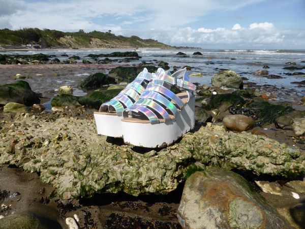 Iridescent platform gladiators. Find out more at http://wightcatwalk.co.uk/the-future-is-now/