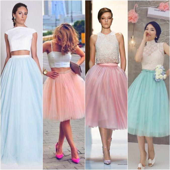 #Fashion #Trend: Tulle Skirts! #Skirts #Pastels #Blue #Pink #Long #Short #Midi #Wedding #Prom