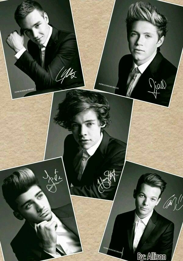 Autograph photos of One Direction
