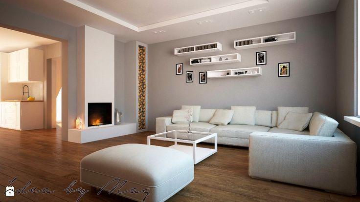 Klasyczna cegła - zdjęcie od IdeabyMag - Salon - Styl Klasyczny - IdeabyMag