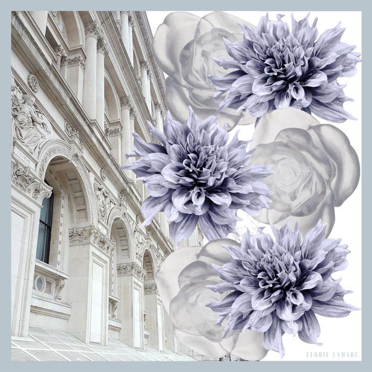Valence Print Scarf - Blue/White