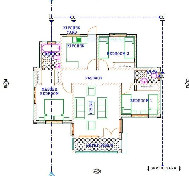 3 Bedroom Design 1270 B House Plan Gallery House Plans Bedroom House Plans