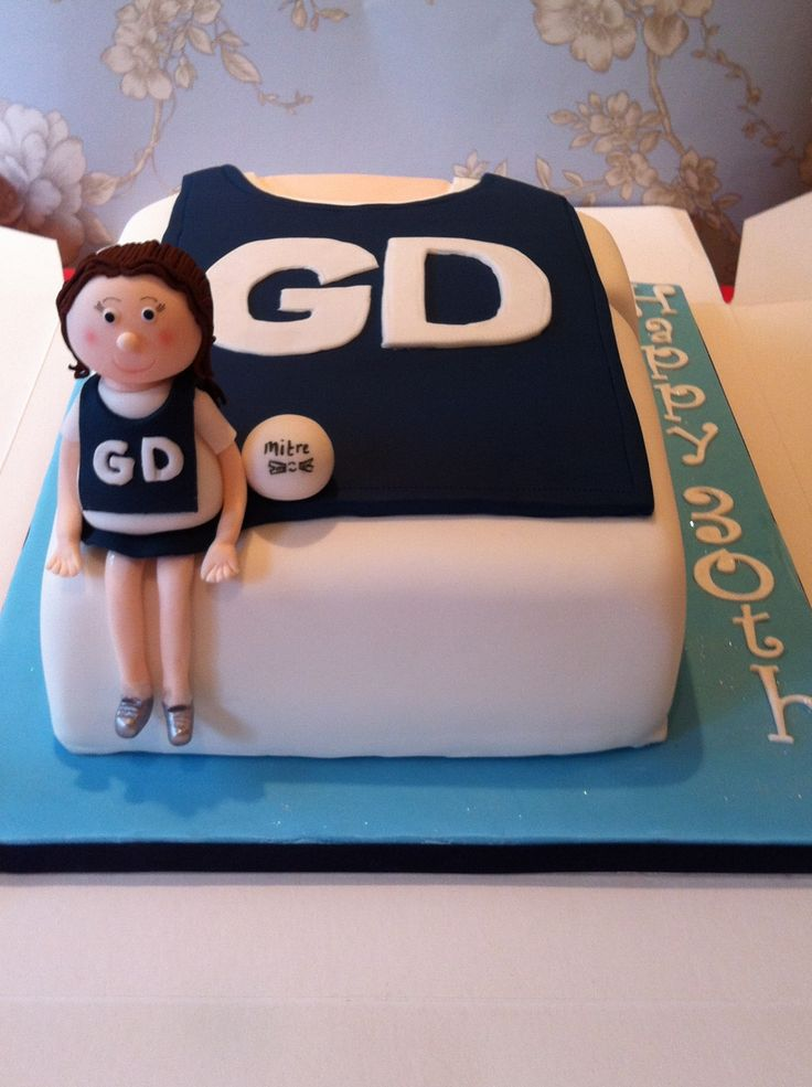 Netball Cake Not Sure If I Could Do The Figurine I