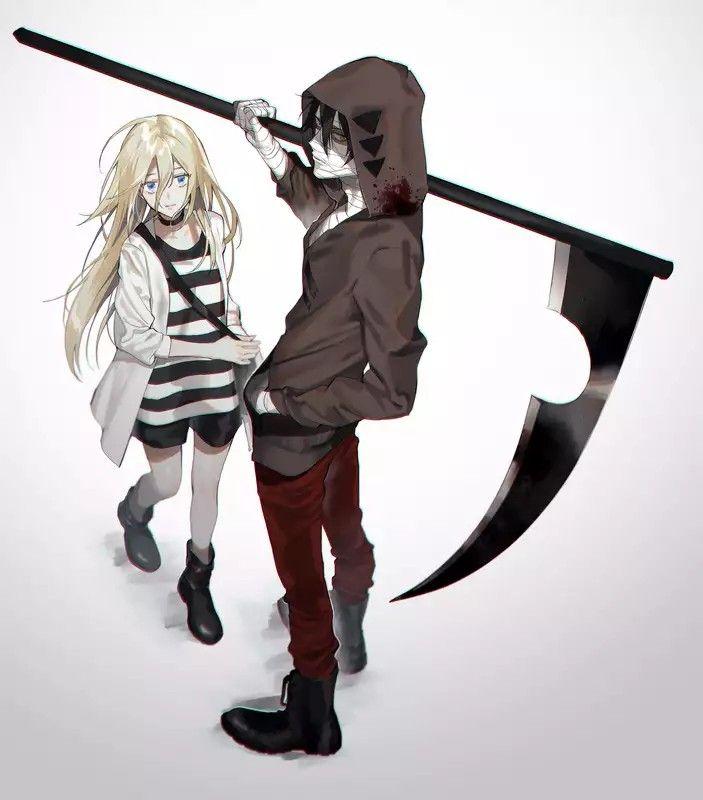 Классные картинки из аниме ангел кровопролития, поздравлением именинником для
