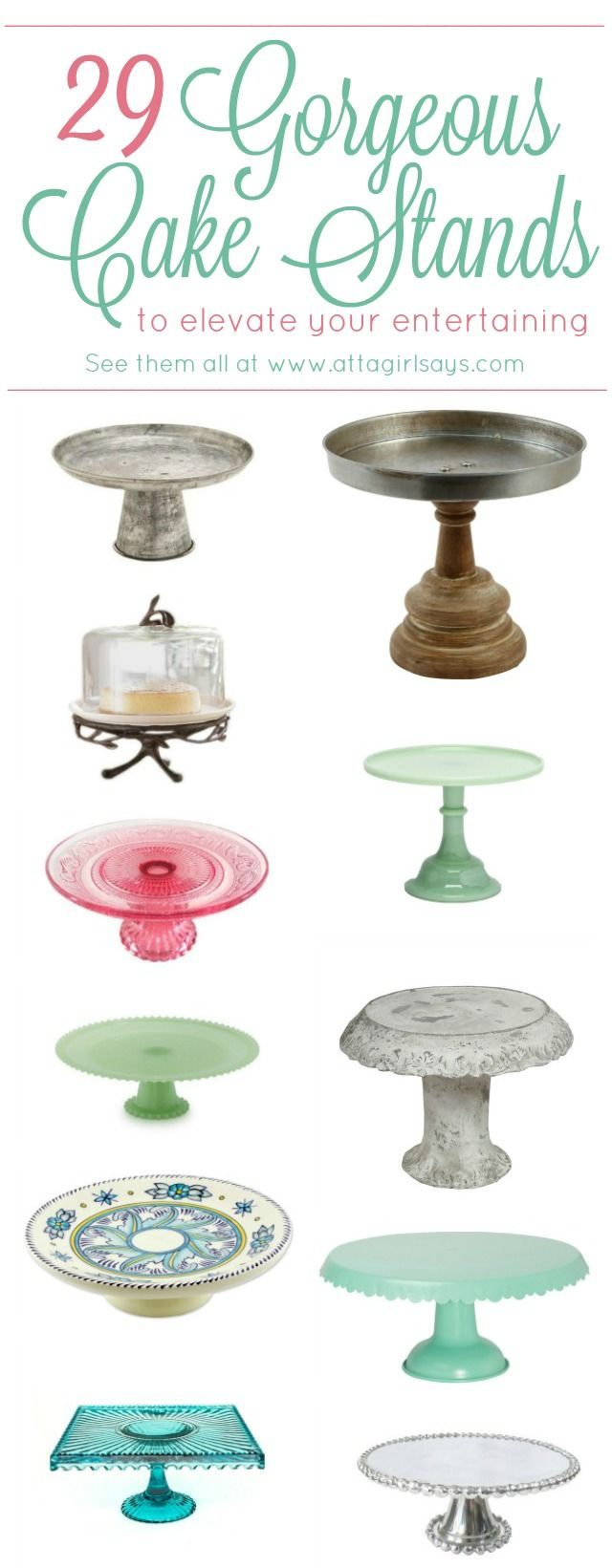 Atta Girl Says | 29 Gorgeous Cake Stands To Elevate Your Entertaining | http://www.attagirlsays.com