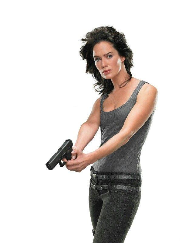Terminator Sarah conner chronicles.  Lena headey as Sarah connor