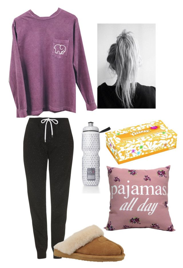 """""""Sick Day"""" by hailstails ❤ liked on Polyvore featuring Topshop, Victoria's Secret and Slippers International"""