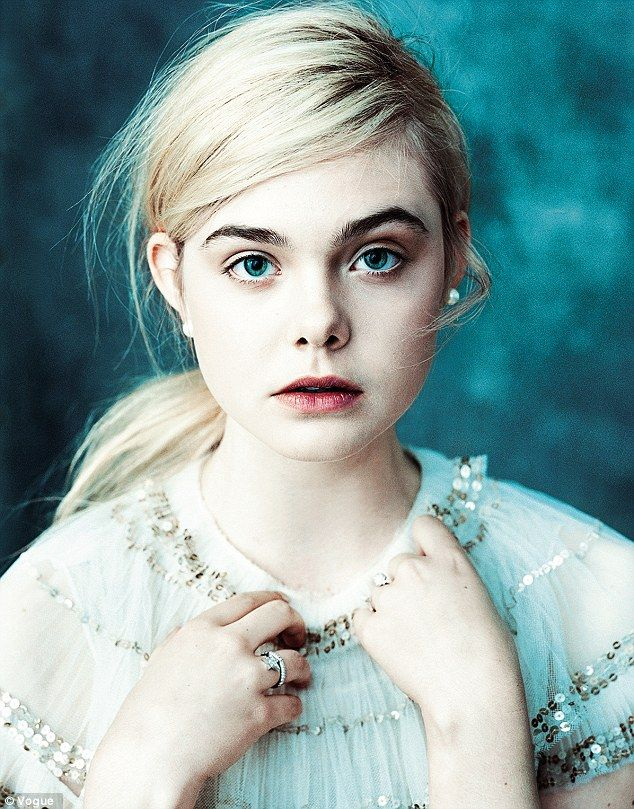 Ethereal: Ginger & Rosa star Elle Fanning looks delicate and otherworldly on the March edition of Vogue