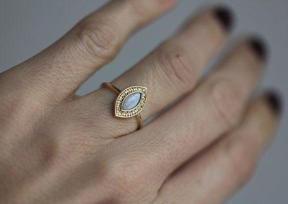 Anillo de compromiso de ópalo anillo de compromiso de por capucinne