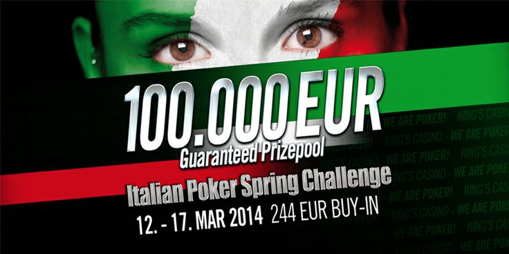 12. - 17 March 2014: Italian Poker Spring Challenge with 100.000 EUR GTD at King's Casino! #CasinoKings #Poker #Rozvadov #Italian #ItalianPokerSpringChallenge #CzechRepublic