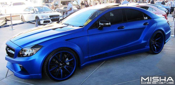 Stunning Matte Blue Mercedes