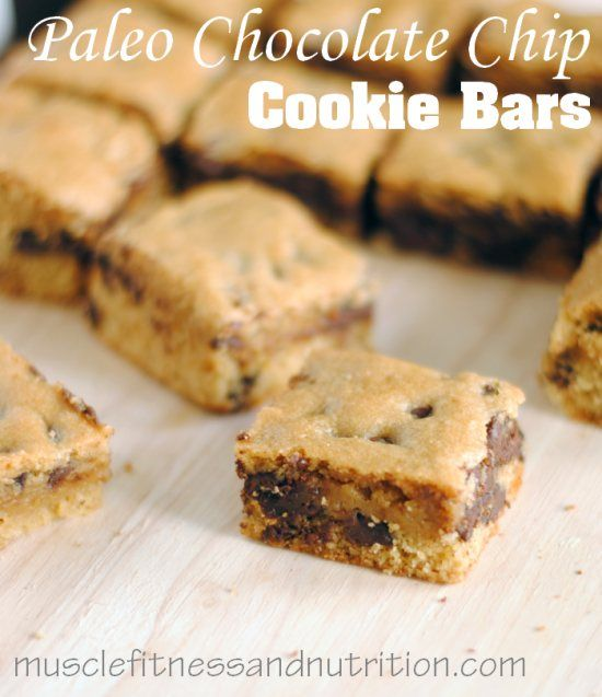 Chocolate Chip Paleo Bar Recipe. In a separate bowl, mix together the eggs, almond milk, oil, vanilla and honey. Combine with the dry ingredients and stir w