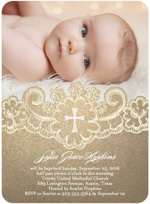 Laced Treasure - Baptism, Christening Invitations - Coloring Cricket - Walnut - Brown : Front