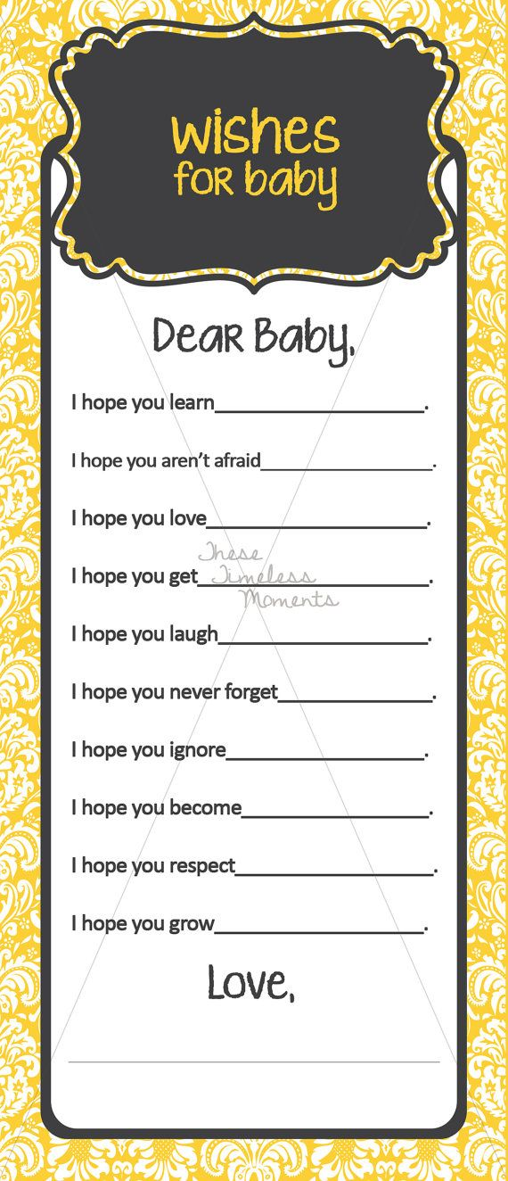 Bee Shower Baby Wishes by TheseTimelessMoments on Etsy, $3.00
