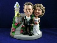 Classic Castle Theme Newly wed Couple Bobbleheads