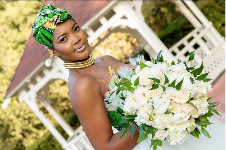 Ankara inspired wedding dress