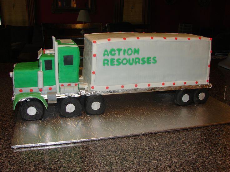 18 wheeler truck birthday cake