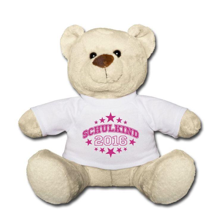 ZUR EINSCHULUNG als Geschenk mit in die Schultüte geben: Teddy mit dem Motiv Schulkind 2016.  (online bestellbar)  https://shop.spreadshirt.de/Einschulung
