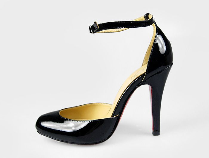 Styles Franchised Store - Christian Louboutin Tres Decollete Ankle-Strap Pumps Black
