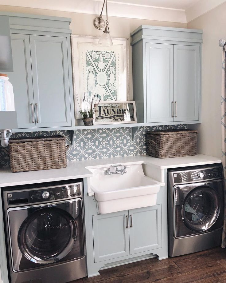 """114 Likes, 11 Comments - Hannah (@wild_house_) on Instagram: """"Working on a project in Goshen and I HAD to snap a pic of the laundry room because I mean, how…"""""""
