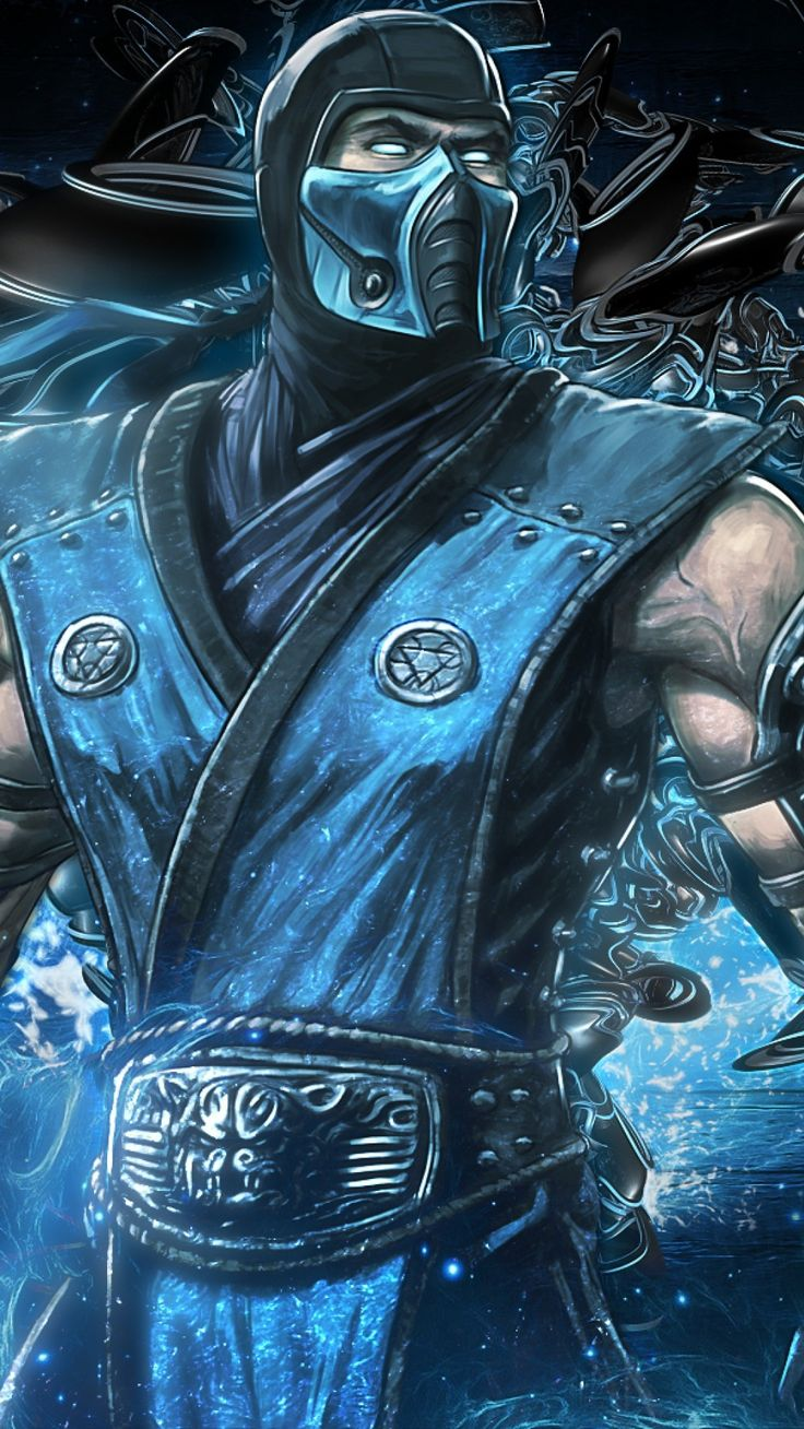1080x1920 Wallpaper mortal kombat, sub zero, art, equipment