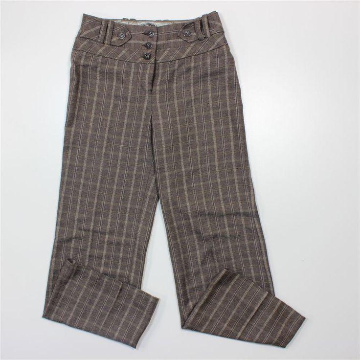 Next Womens Trousers Size 8 Waist Multi-coloured Wool Blend L30