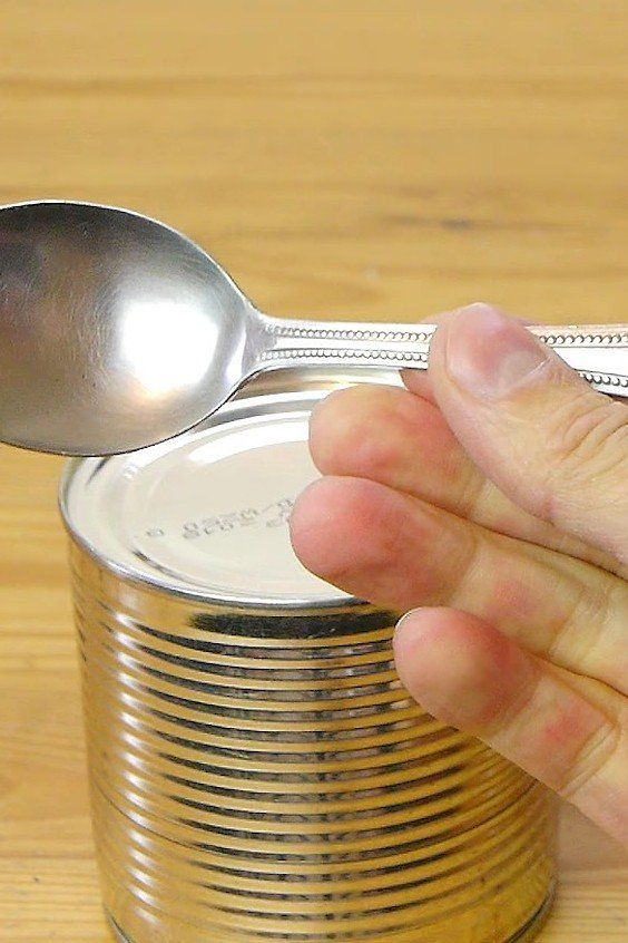 how to open soup without a can opener
