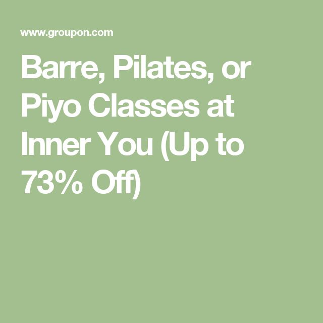 Barre, Pilates, or Piyo Classes at Inner You (Up to 73% Off)