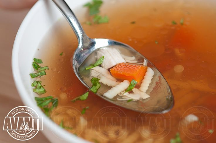 Chicken soup with vegetables and noodles