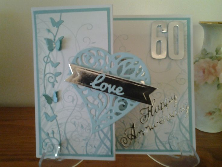 60th Anniversary Card Couture Creation Heart Lasting Love