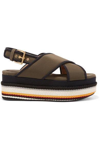 Marni | Neoprene platform sandals | NET-A-PORTER.COM