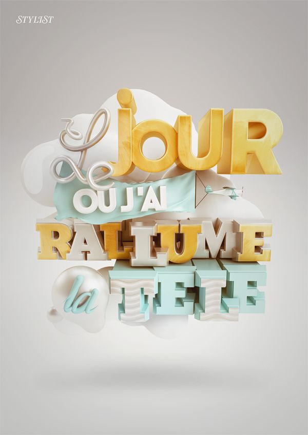 3D Design - 3D Typography - Modelling September Update on Behance