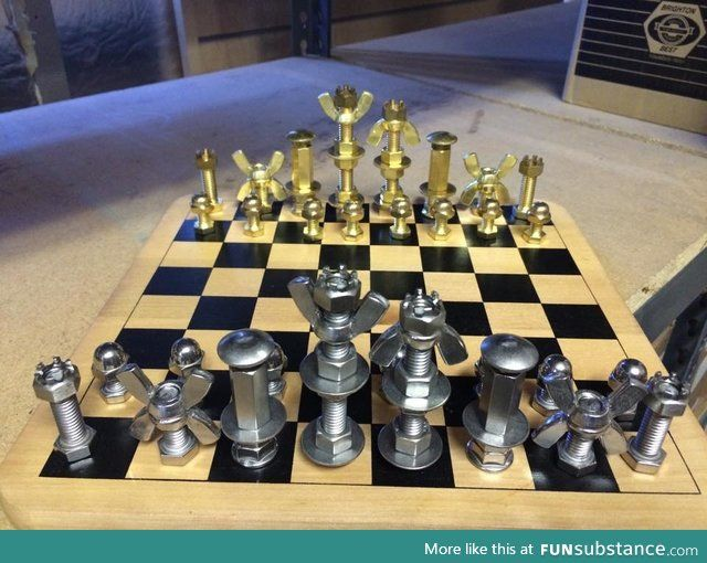 projects ideas metal chess pieces. Nuts and bolts chess set 1045 best Chess Sets  Boards images on Pinterest games