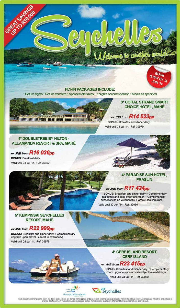 Save up to R10 000 on our Six Day Seychelles Sale. http://bit.ly/1s2UNbc