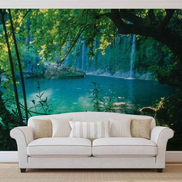 WALL MURAL PHOTO WALLPAPER XXL Tropical Waterfall Lagoon
