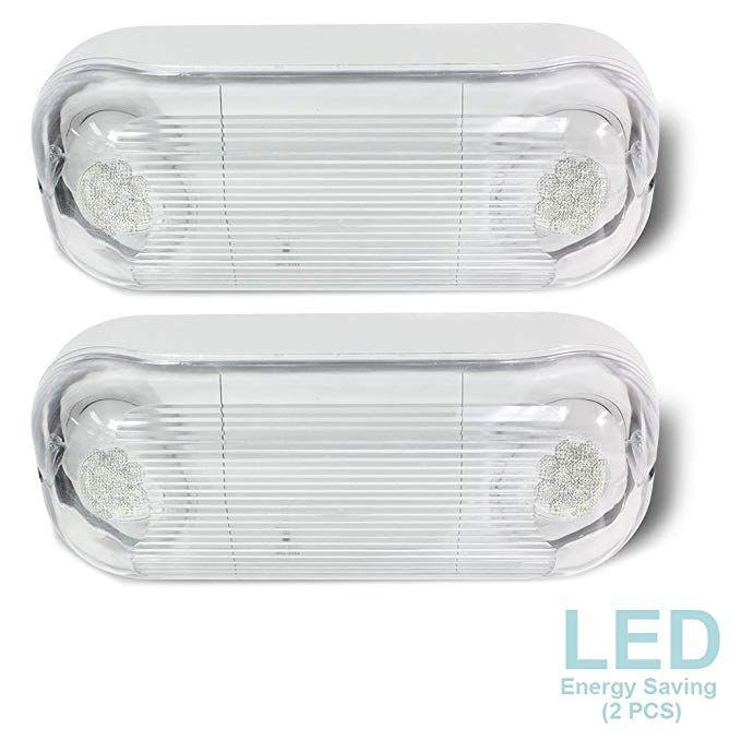 Etoplighting 2 Pcs Led Hardwired Outdoor Indoor Emergency Light