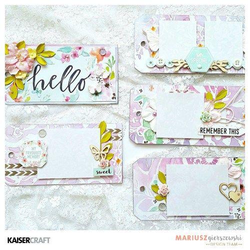 Mini album by Mariusz- Floral Gloss Specialty Paper - Kaisercraft Official Blog